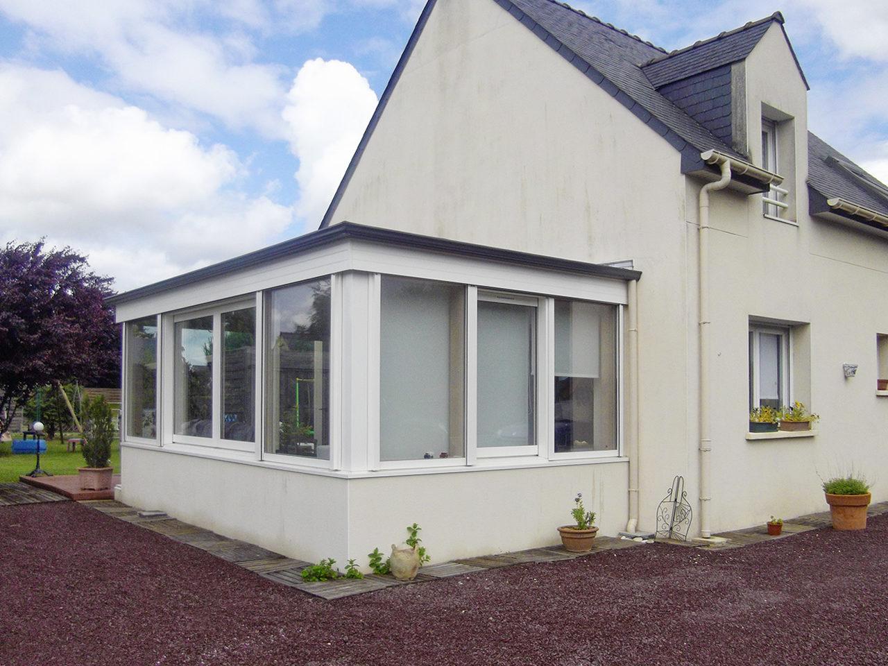 Wonderful Extension en toiture terrasse - Padiou Véranda WC68