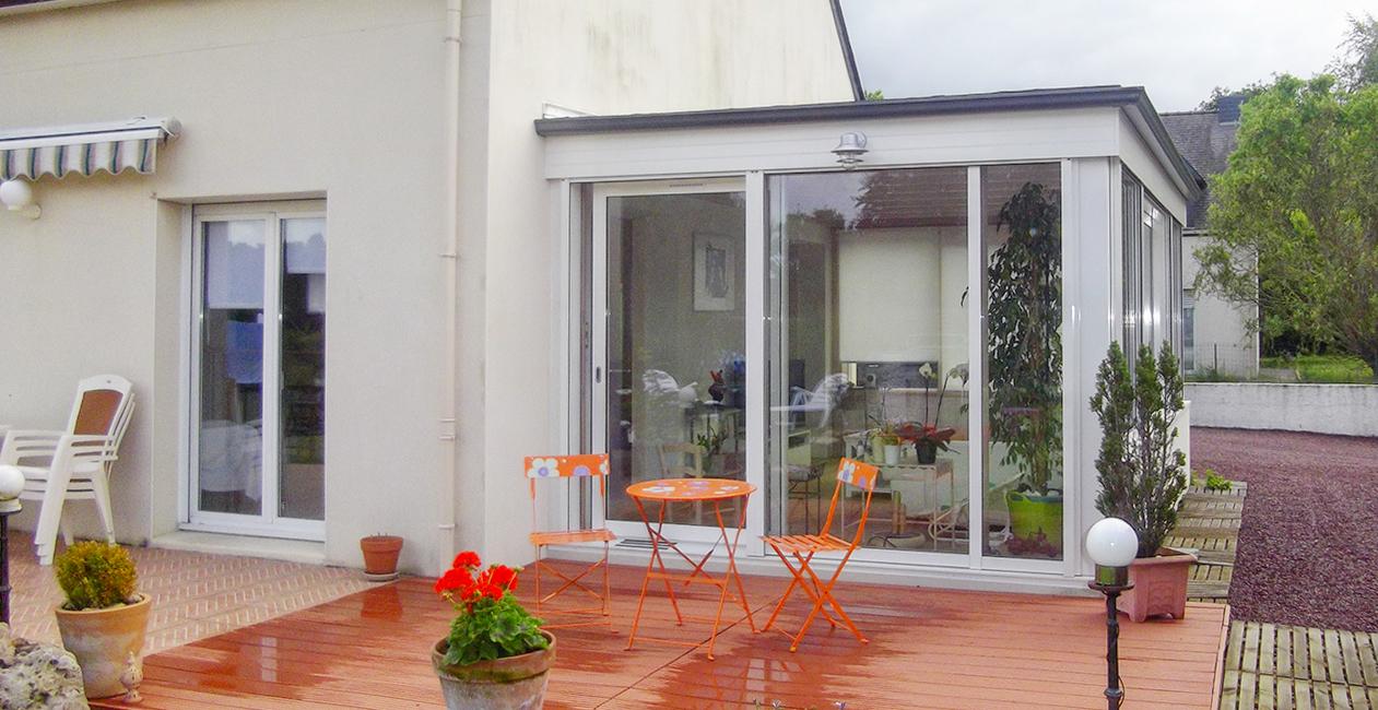 Extension en toiture terrasse