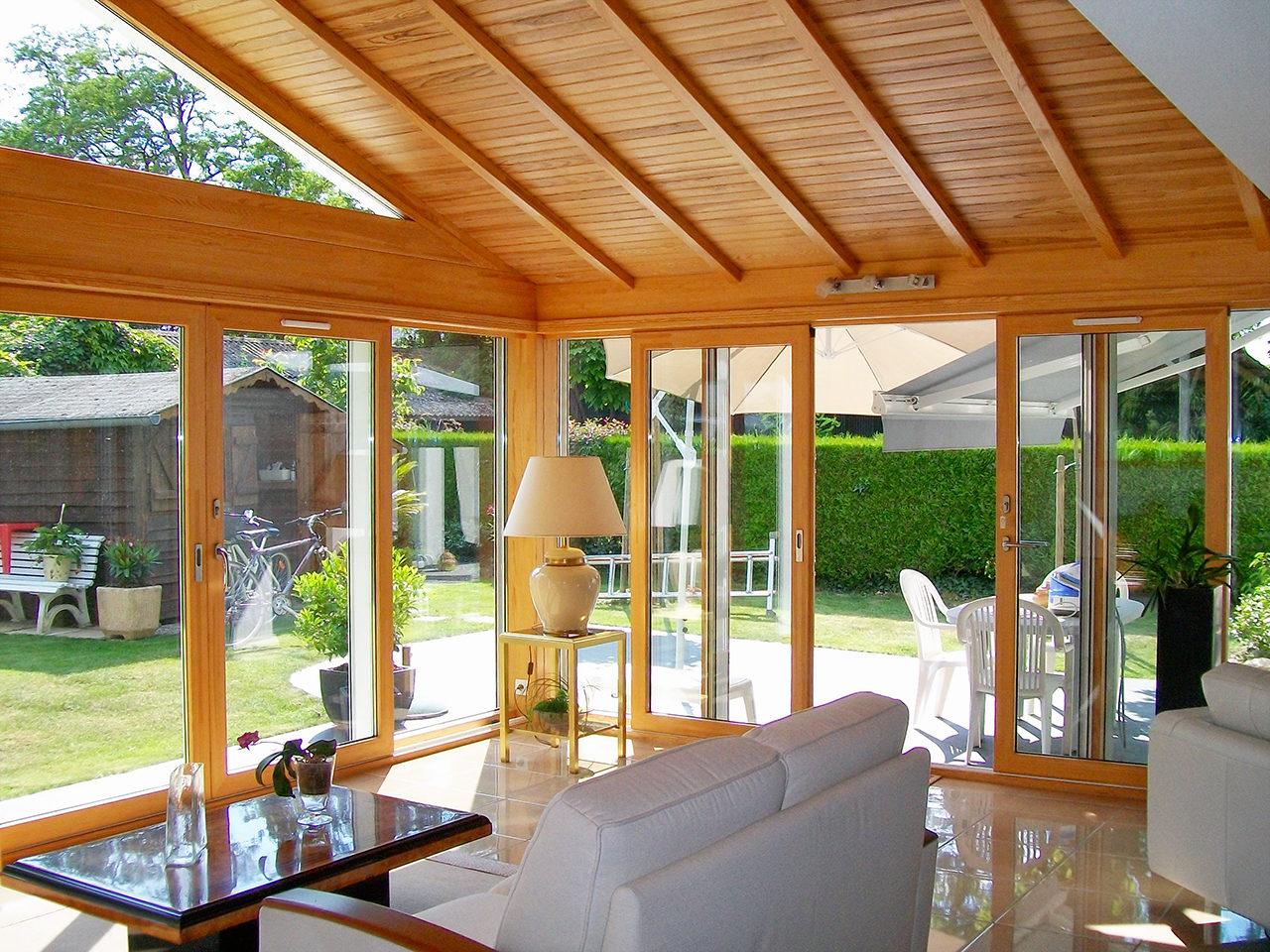 Extension vitrée pour plus de clarté - Padiou Véranda